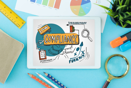 compliant: Compliance Concept on Tablet PC Screen