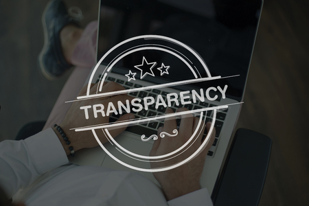 evident: People Using Laptop and TRANSPARENCY Concept