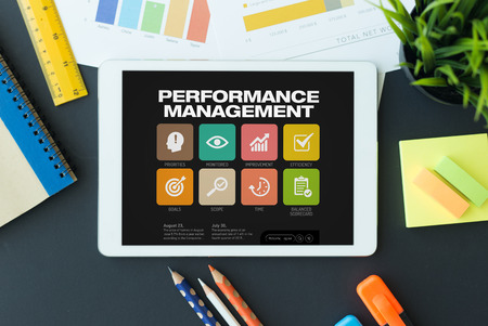 summarized: Performance Management Concept on Tablet PC Screen