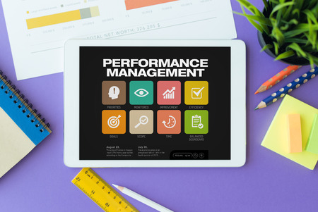 correlation: Performance Management Concept on Tablet PC Screen