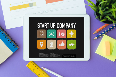 reasons: Start up Company Concept on Tablet PC Screen