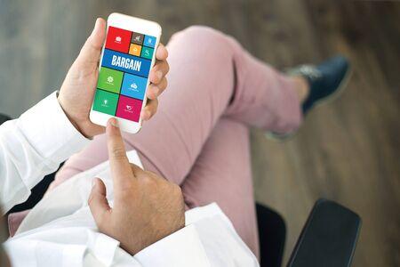 accountable: COMMUNICATION TECHNOLOGY INTERNET APP BUSINESS BARGAIN CONCEPT