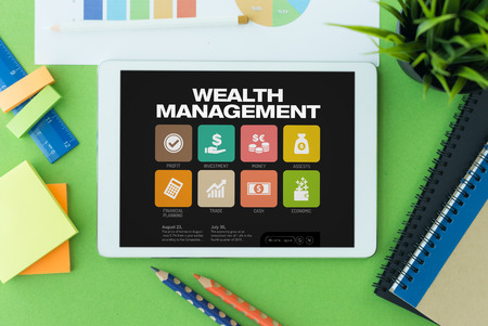 wealth management: Wealth Management Concept on Tablet PC Screen