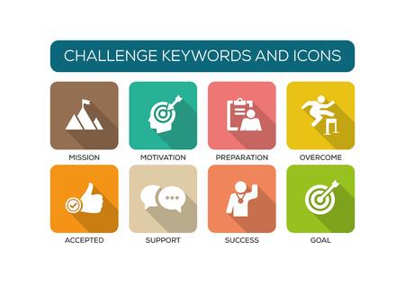 iconset: Challenge Flat Icon Set Illustration