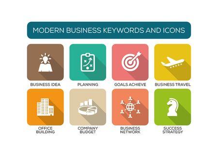 iconset: Modern Business Flat Icon Set