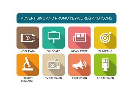 iconset: Advertising and Promo Flat Iconset