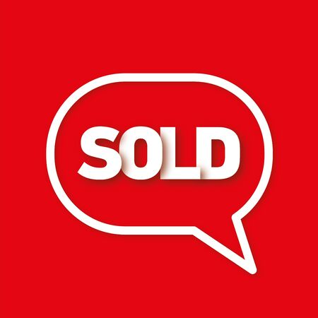 sold: Sold speech bubble Stock Photo