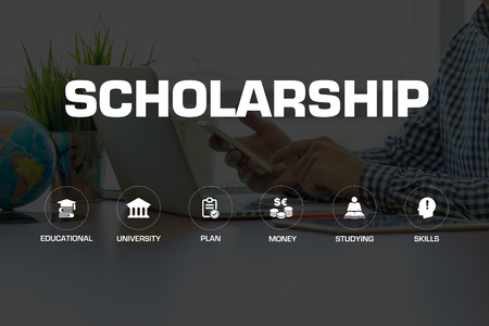 scholarship: SCHOLARSHIP ICONS AND KEYWORDS CONCEPT