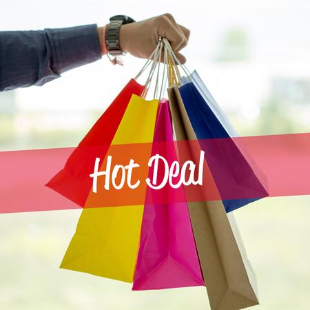 Shopping Concept: Hot Deal Stock Photo