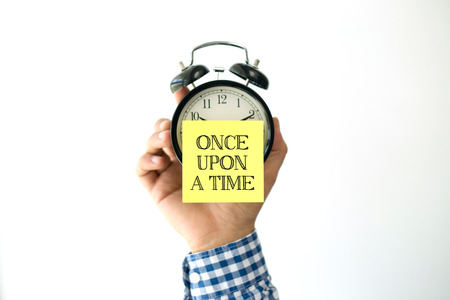 memoirs: Hand Holding Alarm Clock and Pointing ONCE UPON A TIME