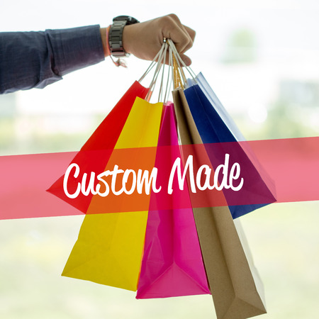 Shopping Concept: Custom Made Stock Photo