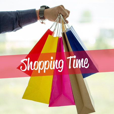 buying time: Shopping Concept: Shopping Time Stock Photo