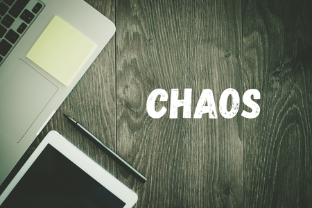 wire mess: BUSINESS WORKPLACE TECHNOLOGY OFFICE CHAOS CONCEPT