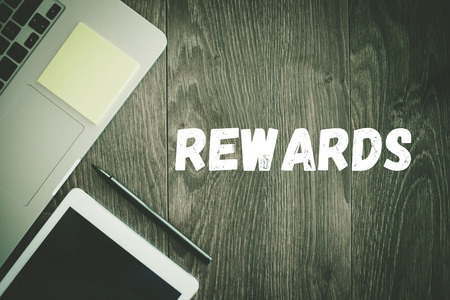 payoff: BUSINESS WORKPLACE TECHNOLOGY OFFICE REWARDS CONCEPT