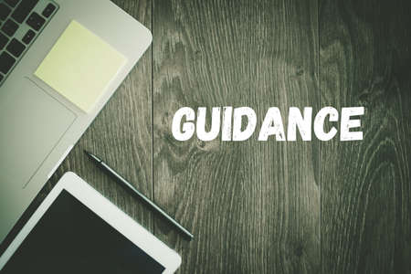 guidance: BUSINESS WORKPLACE TECHNOLOGY OFFICE GUIDANCE CONCEPT Stock Photo