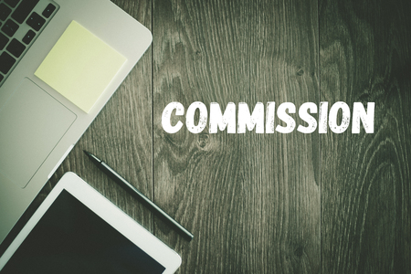 BUSINESS WORKPLACE TECHNOLOGY OFFICE COMMISSION CONCEPT Stock Photo