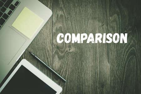 comparison: BUSINESS WORKPLACE TECHNOLOGY OFFICE COMPARISON CONCEPT