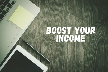 save money: BUSINESS WORKPLACE TECHNOLOGY OFFICE BOOST YOUR INCOME CONCEPT