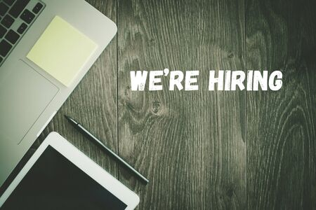 were: BUSINESS WORKPLACE TECHNOLOGY OFFICE WERE HIRING CONCEPT