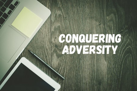 adversity: BUSINESS WORKPLACE TECHNOLOGY OFFICE CONQUERING ADVERSITY CONCEPT