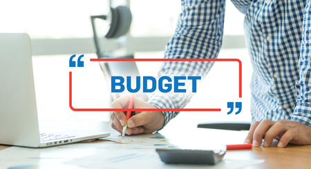 deficit target: BUSINESS WORKING OFFICE BUSINESSMAN BUDGET CONCEPT