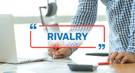 rivalry: BUSINESS WORKING OFFICE BUSINESSMAN RIVALRY CONCEPT