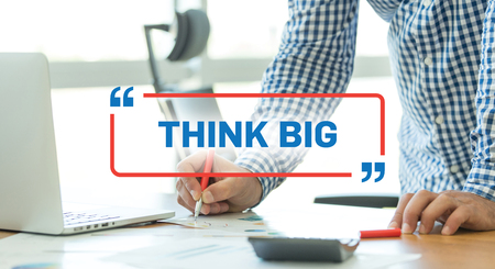 overachiever: BUSINESS WORKING OFFICE BUSINESSMAN THINK BIG CONCEPT