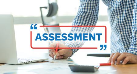 assessment system: BUSINESS WORKING OFFICE BUSINESSMAN ASSESSMENT CONCEPT