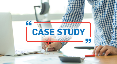study: BUSINESS WORKING OFFICE BUSINESSMAN CASE STUDY CONCEPT Stock Photo