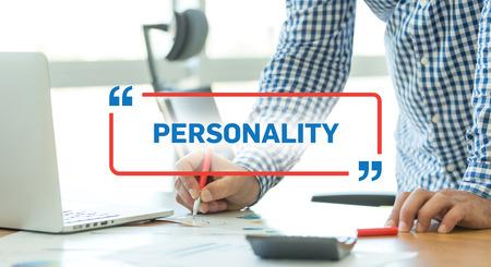 personalidad: CONCEPTO DE NEGOCIO DE TRABAJO DE OFICINA DE NEGOCIOS DE LA PERSONALIDAD