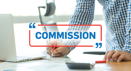 commercial law: BUSINESS WORKING OFFICE BUSINESSMAN COMMISSION CONCEPT