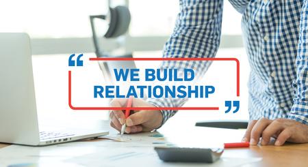 social grace: BUSINESS WORKING OFFICE BUSINESSMAN WE BUILD RELATIONSHIP CONCEPT