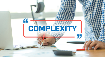 complexity: BUSINESS WORKING OFFICE BUSINESSMAN COMPLEXITY CONCEPT Stock Photo