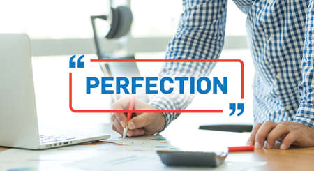 perfection: BUSINESS WORKING OFFICE BUSINESSMAN PERFECTION CONCEPT
