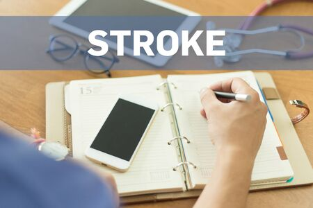 medicaid: MEDICAL DOCTOR WORKING OFFICE AND STROKE CONCEPT