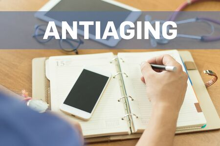 antiaging: MEDICAL DOCTOR WORKING OFFICE AND ANTIAGING CONCEPT