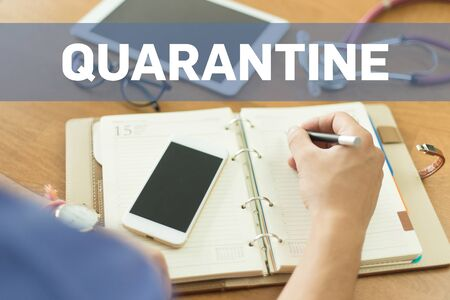 quarantine: MEDICAL DOCTOR WORKING OFFICE AND QUARANTINE CONCEPT