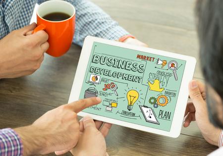 Concept de développement commercial sur écran Tablet PC