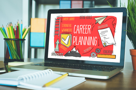CAREER PLANNING concept on a screen Stock Photo