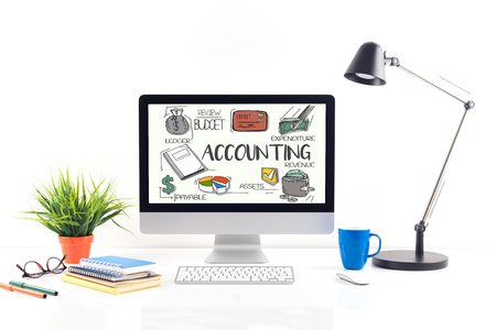ACCOUNTING concept on computer screen Stock Photo