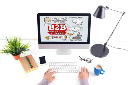 b2b: B2B concepto en la pantalla del ordenador