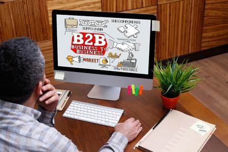 b2b: B2B concept on computer screen