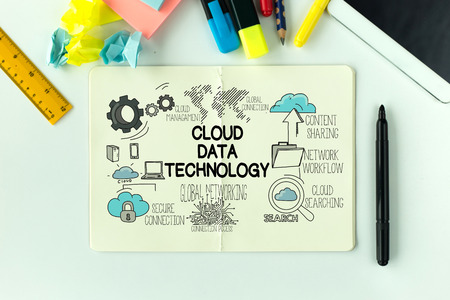 syncing: TECHNOLOGY COMMUNICATION INTERNET AND CLOUD DATA CONCEPT Stock Photo