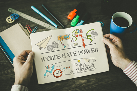WORDS HAVE POWER sketch on notebook
