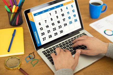 calendario noviembre: 2017 Year NOVEMBER Calendar Concept Foto de archivo