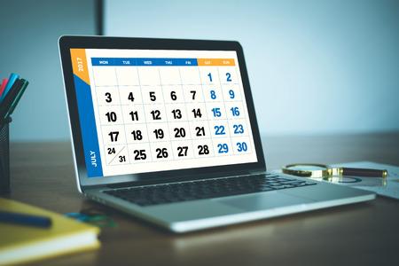 july calendar: 2017 Year JULY Calendar Concept Stock Photo