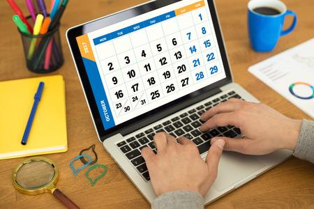 october calendar: 2017 Year OCTOBER Calendar Concept Stock Photo
