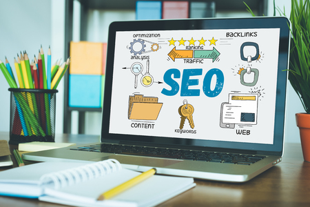 TECHNOLOGY COMMUNICATION INTERNET AND SEO CONCEPT
