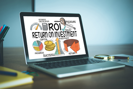 BUSINESS FINANCE SUCCESS COMMUNICATION AND ROI CONCEPT