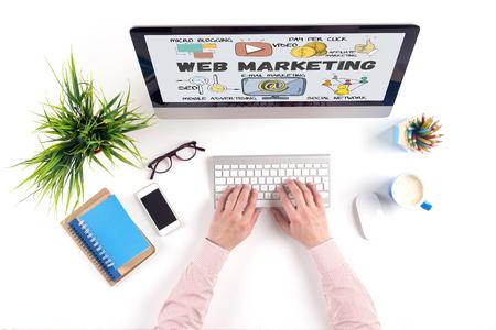 web marketing: BUSINESS COMMUNICATION TECHNOLOGY AND WEB MARKETING CONCEPT